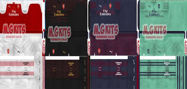 Arsenal 2018/19 Kits - PES 6