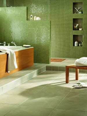 unique images collection: colorfull tile modern bathroom