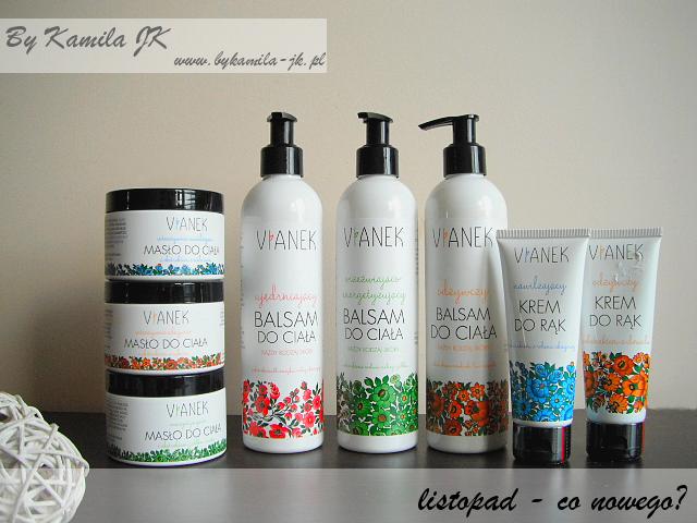 Polskie kosmetyki naturalne Vianek polish organic cosmetics masło balsam do ciała krem do rąk