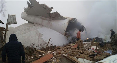 The crash of the Turkish Boeing in Kyrgyzstan.