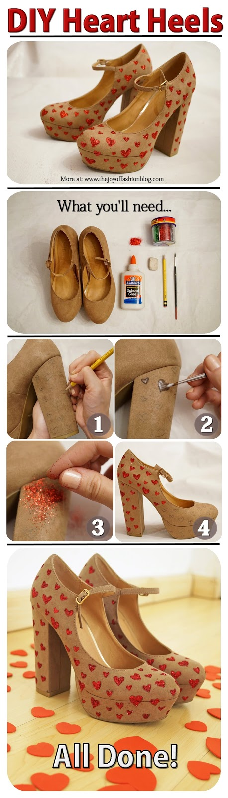 DIY Valentines Day Shoes Tutorial
