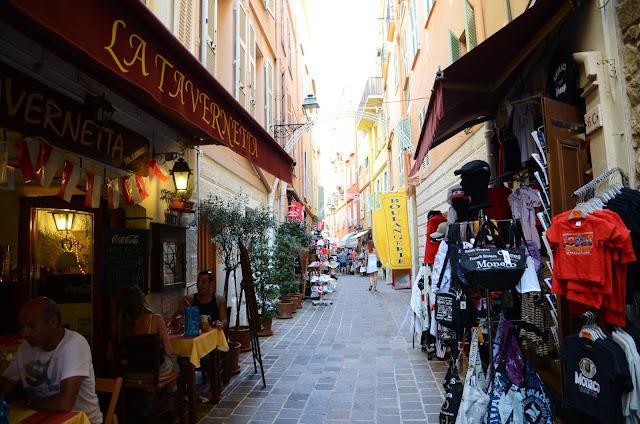 모나코 구시가 상점가 モナコ旧市街の商店街