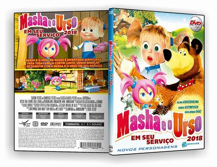 CAPA DVD – Masha e o Urso Em Seu Serviço – ISO