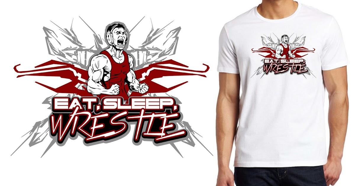 47ffd2361 T-shirt logo design creative ideas: Wrestling generic vector logo ...