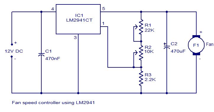 Fan Speed Controller Using Lm2941 Elepros