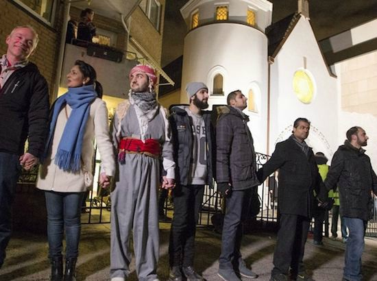 'Rings of Peace' have been formed in places as diverse as Cameroon, France, Norway and Egypt where Muslims guard the churches while Christians pray and Christians guard the mosques while Muslims pray. The message is simple - do not allow hatred to win, even if it stems from our own people.