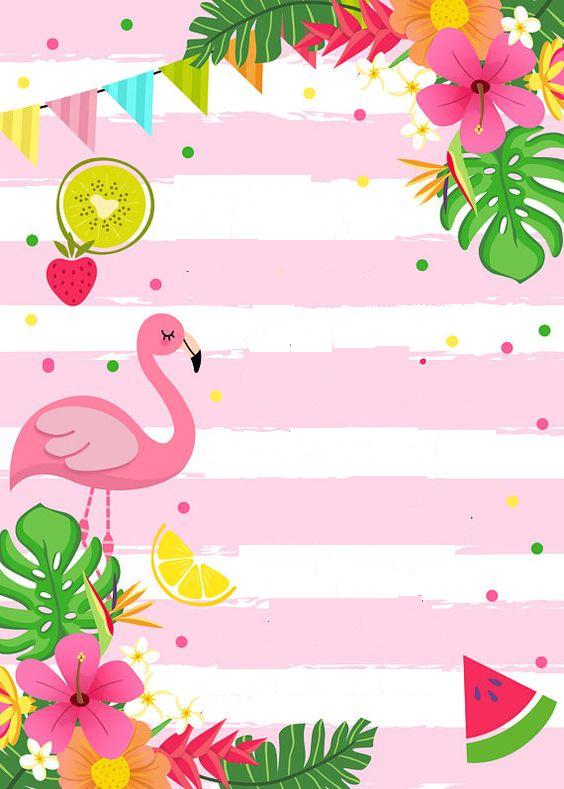 Convite Flamingo Decorando Minha Festa