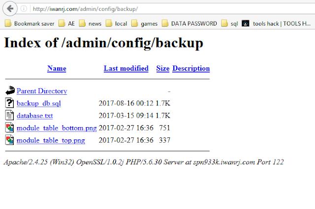 Hacker 5. Melalui Direktory Web