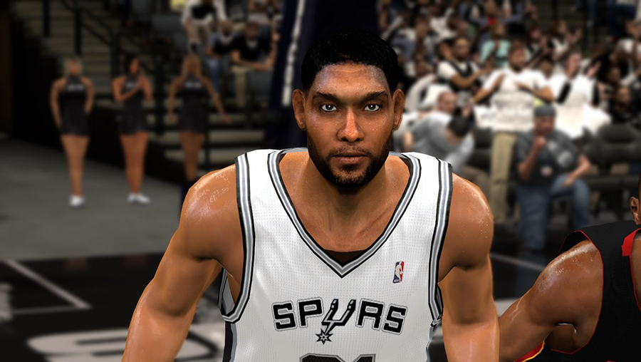 NBA 2K14 Tim Duncan Mini Afro Hair Mod
