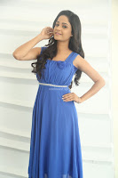 Divya Nandini stunning Beauty in blue Dress at Trendz Exhibition Launch ~  Celebrities Galleries 043.JPG