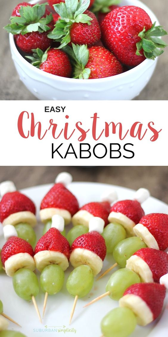 EASY CHRISTMAS FRUIT KABOBS