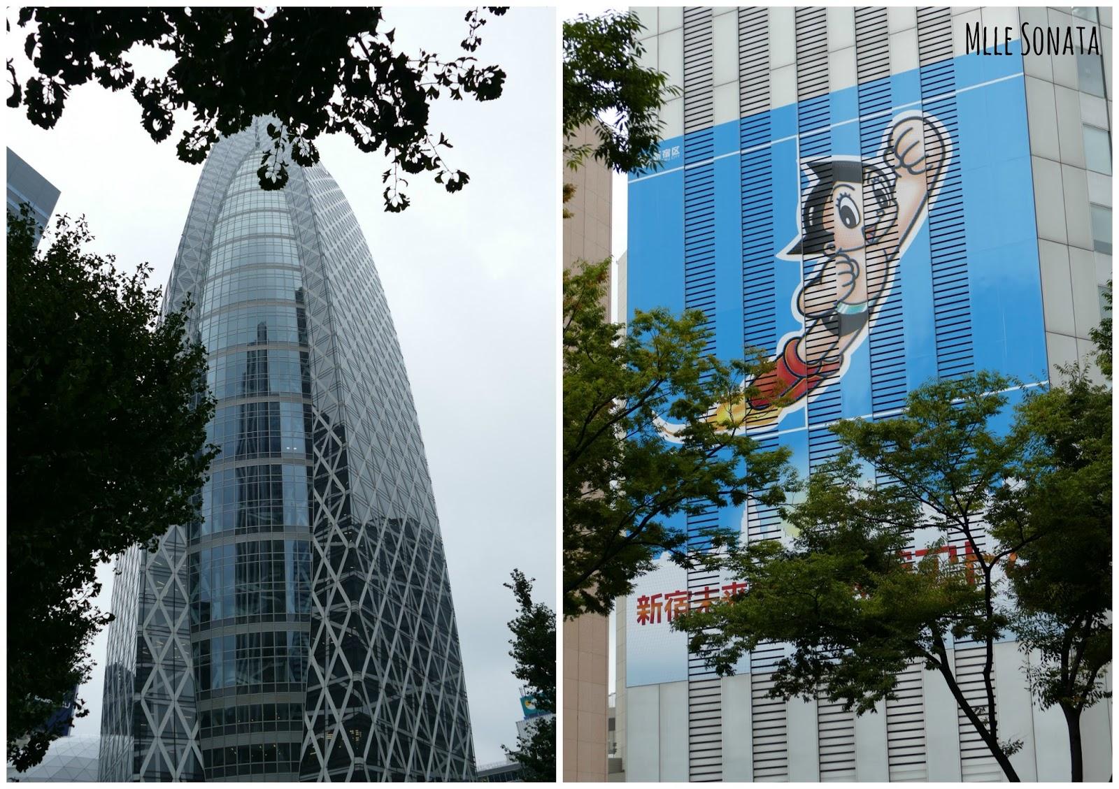 Dans le quartier administratif avec le Tokyo Mode Gakuen à gauche.