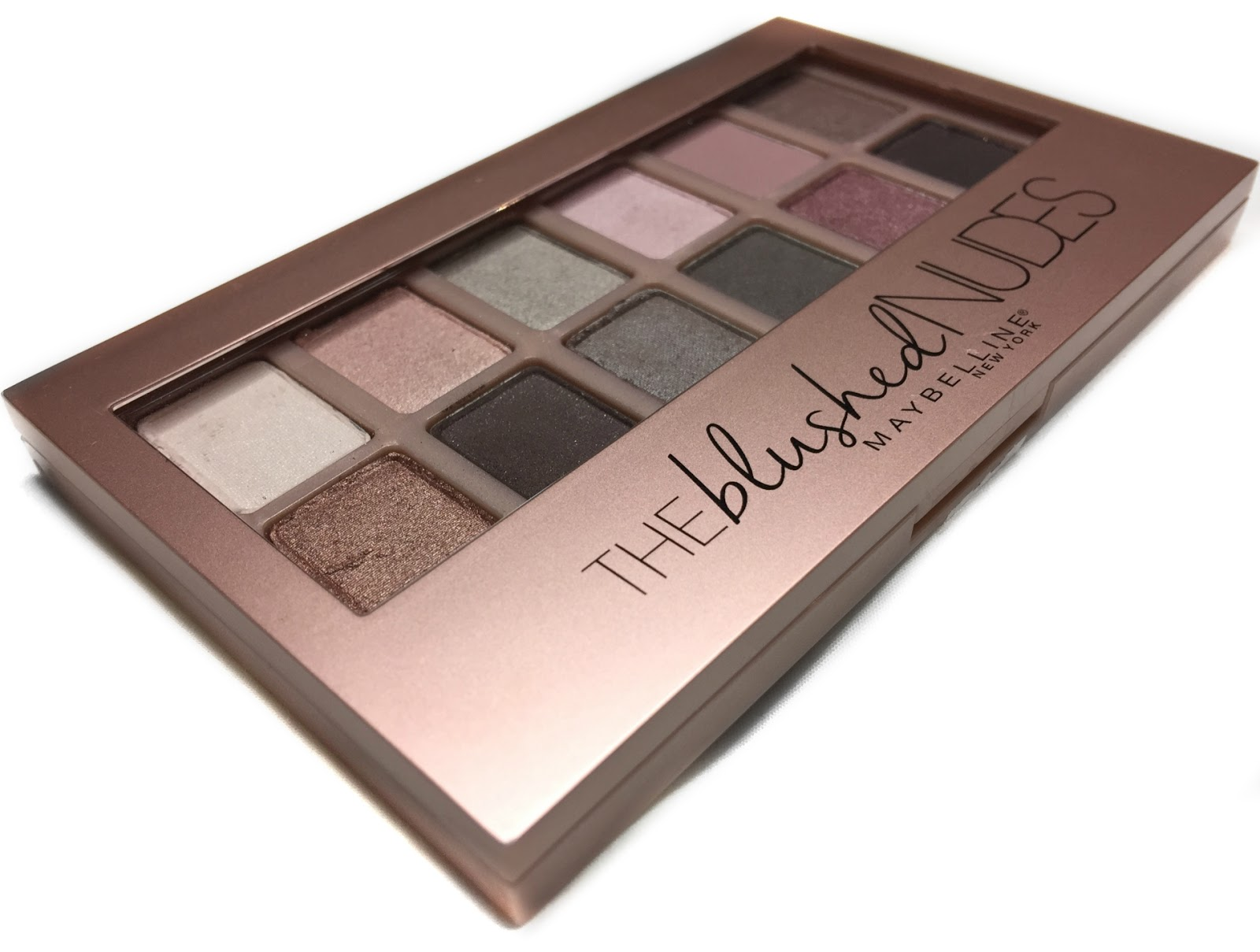 Review Maybelline The Blushed Nudes Eyeshadow Palette -4350