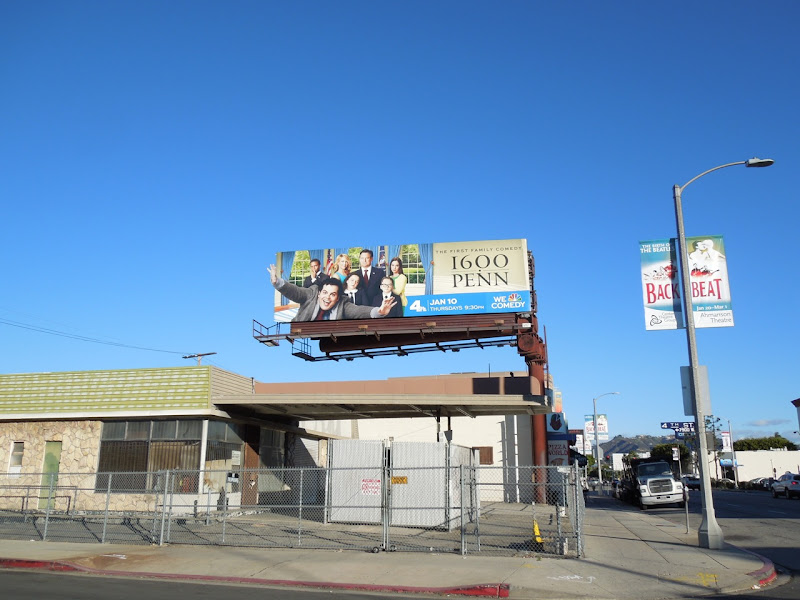 1600 Penn season 1 extension billboard