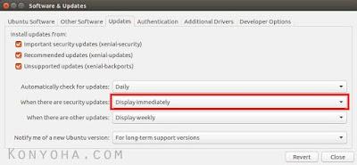 mematikan update otomatis ubuntu