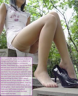 dominant women caption