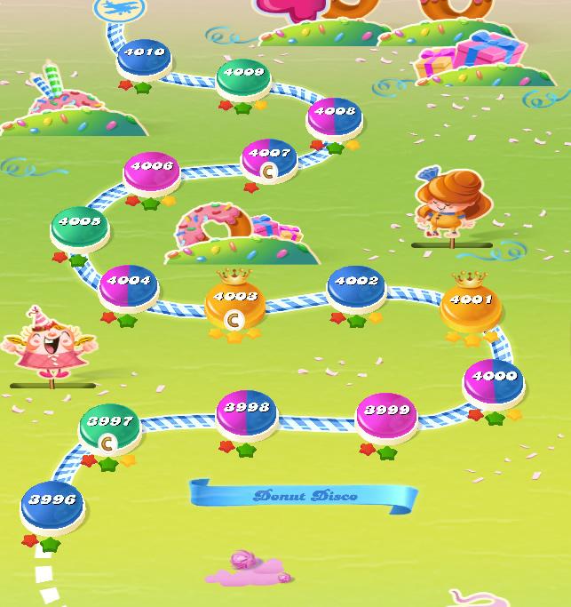 Candy Crush Saga level 3996-4010