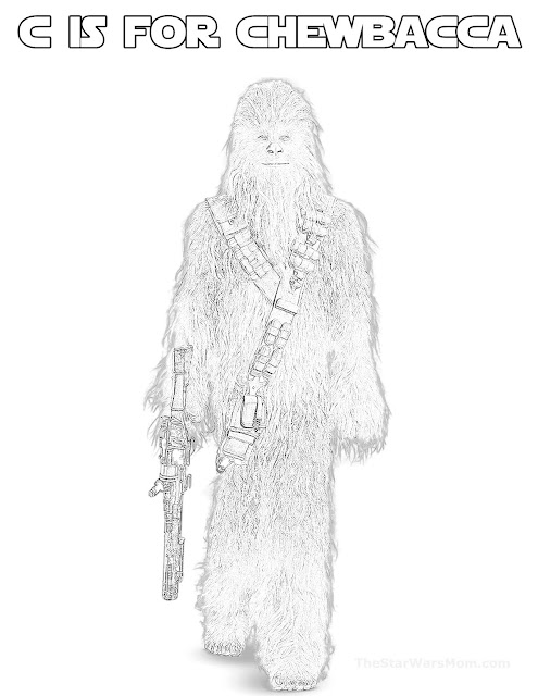 Chewbacca Alphabet Coloring Page - Star Wars Solo Movie