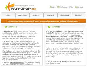 Paypopup Review - Iklan Pop Up/Pop Under Terbaik untuk Blogger
