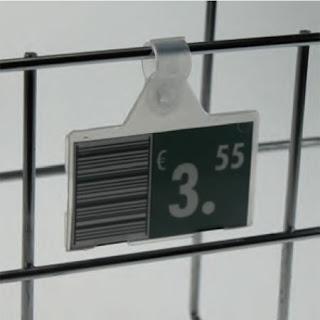 soporte etiquetas para reja