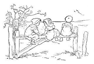 children boy girl fence field image