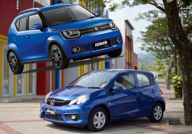 Suzuki Ignis Kuntit Honda Brio