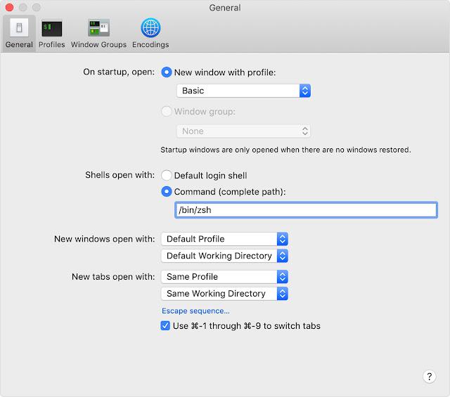 ZSH como terminal de comandos padrão do MacOS X