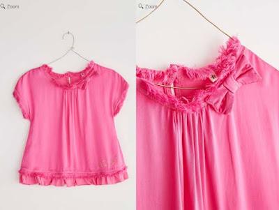 blusa de color fucsia para niñas