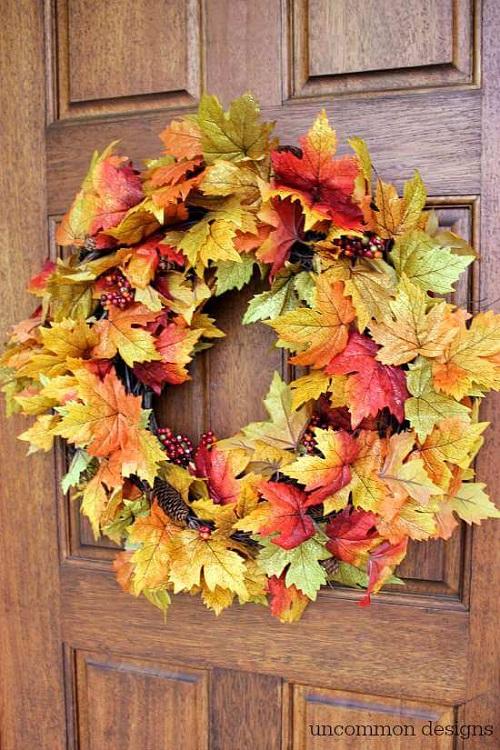 ten minute fall wreath