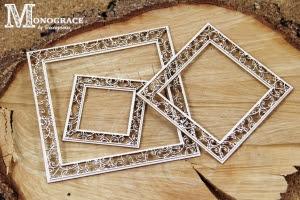 Monograce - 2 layer Square frames 3 pcs