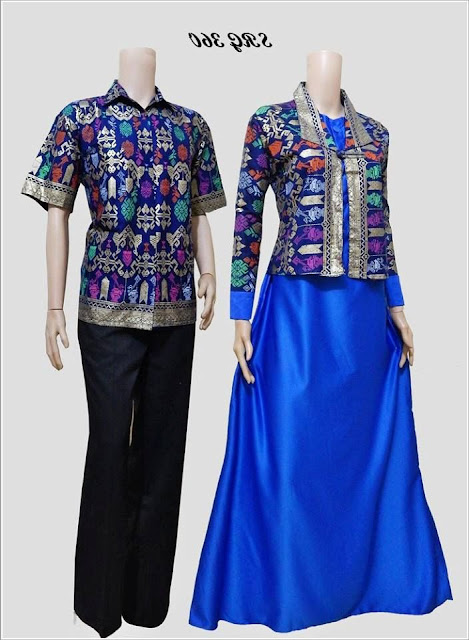 Model Couple Baju Busana Muslim Batik Trend 2017