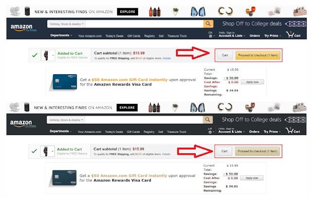 Tienda de Amazon donde los botones tienen más contraste