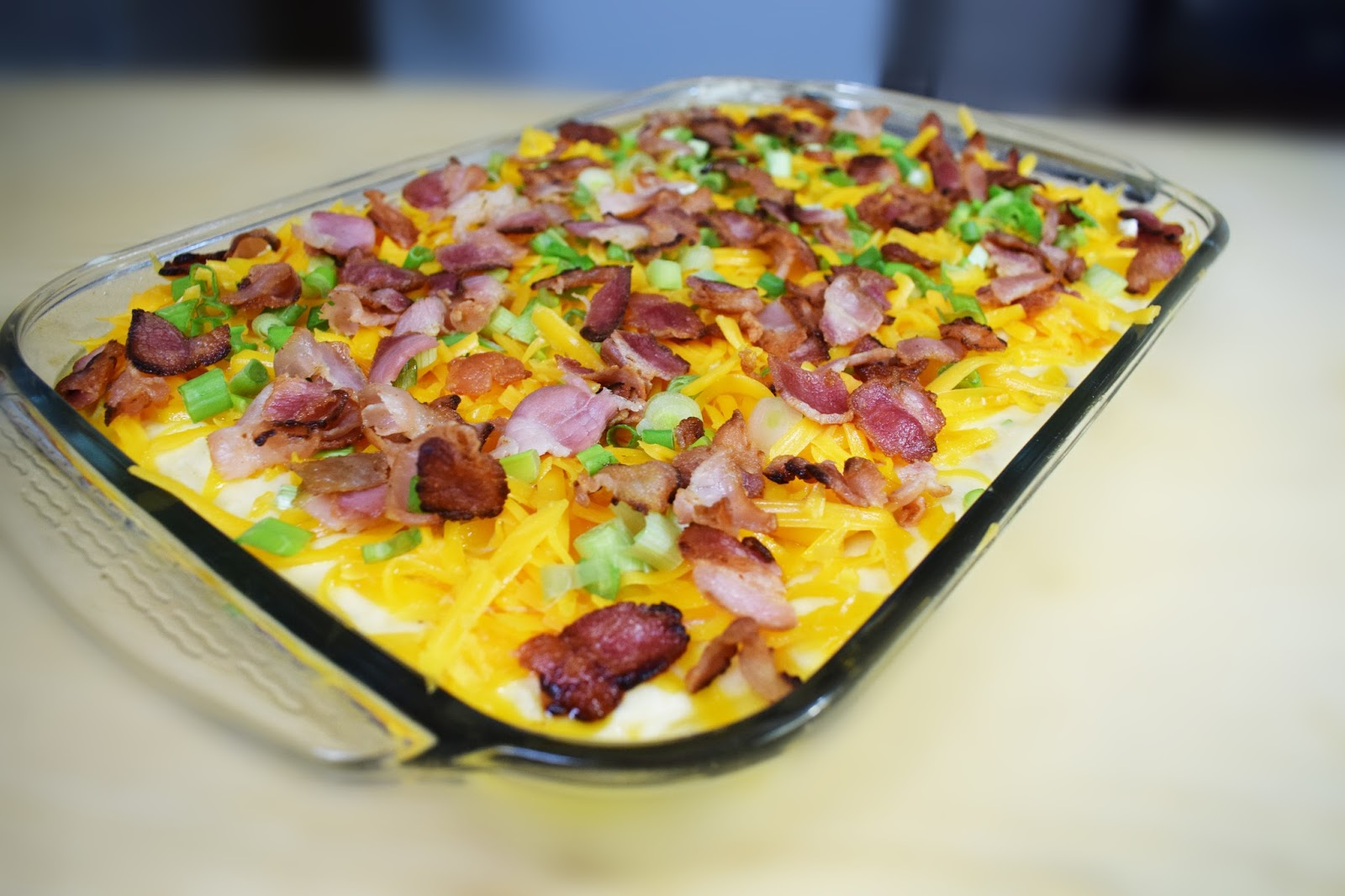 Mashed Potatoes with Cheddar Cheese and Bacon! ~ Easy Cooking