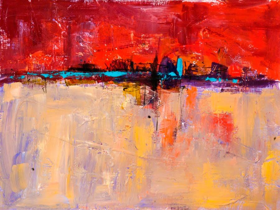 Kit hevron mahoney fine art kma2739 beyond horizons for Abstract painting in acrylic