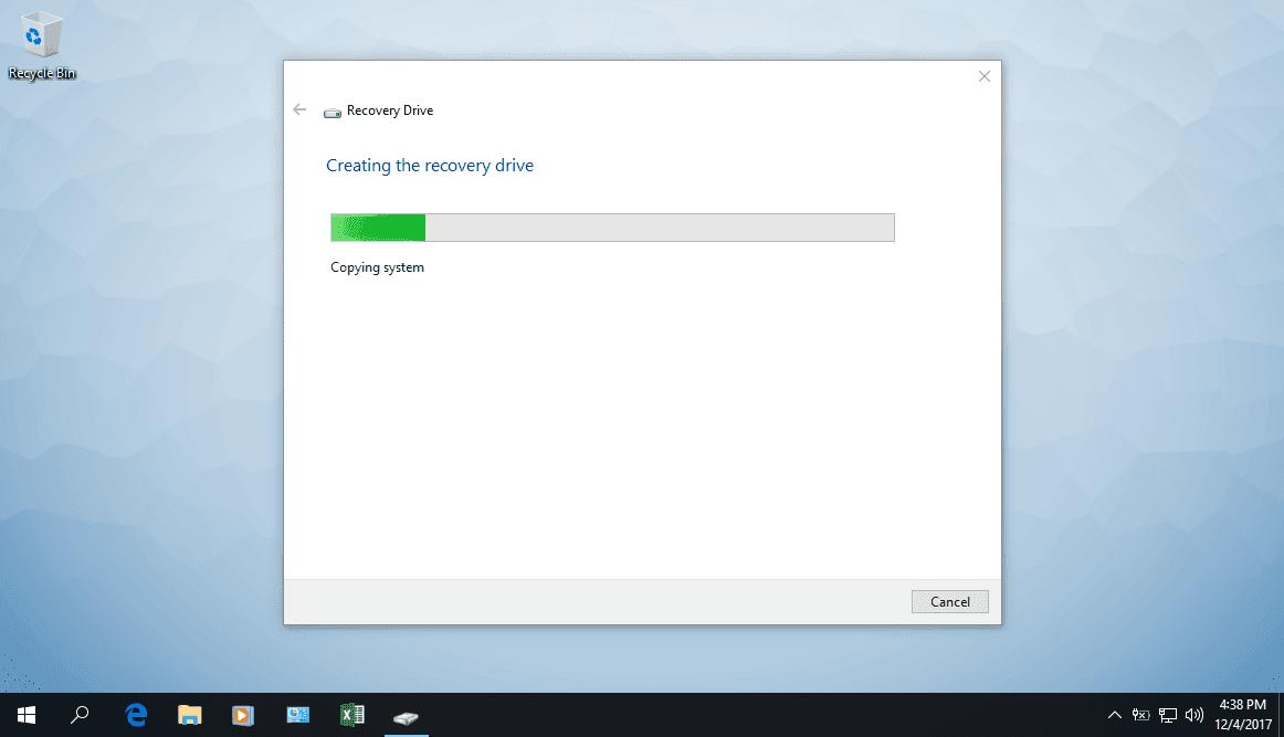 Hướng dẫn tạo thiết bị phục hồi máy tính trong Windows 10 - Ảnh 5