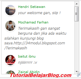 membuat recent comment di blog, komentar di sidebar blog