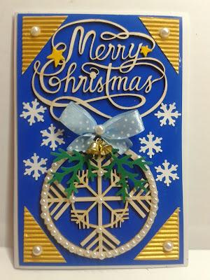 Kartka boże Narodzenie, gwiazdki, dzwoneczek, bombka