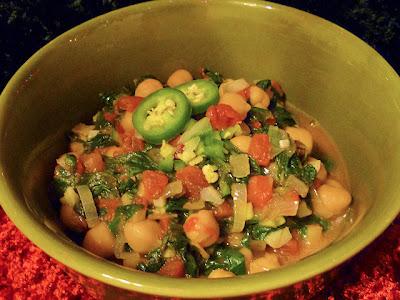 Spinach w/ Chickpeas