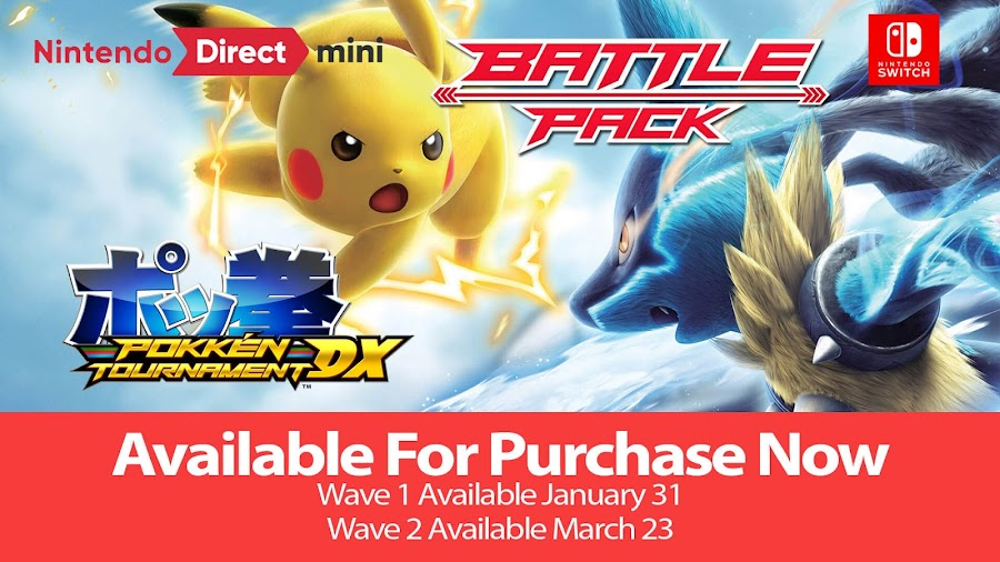 pokkén tournament dx battle pack dlc