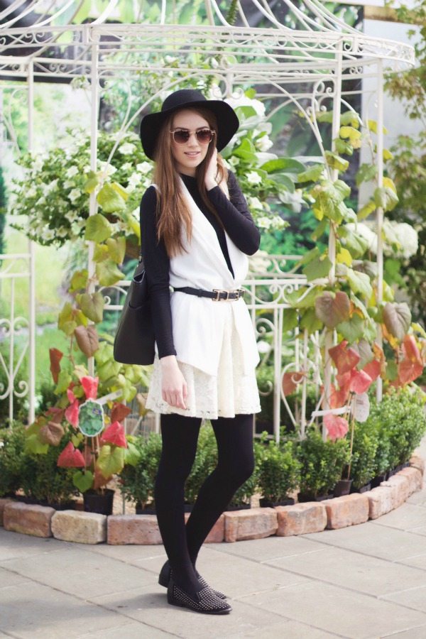 classic monochrome outfit