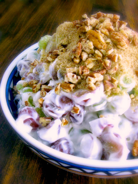 Cooking With K Creamy Brown Sugar Grape Salad