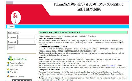 Source Code Website Sistem Penunjang Keputusan Guru dan Pegawai Php Mysql