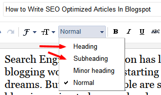 lasting way to piece of work on getting traffics that is e'er tried to set out SEO optimized article How to Write SEO Optimized Articles In Blogspot