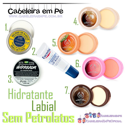 Composição Lip Balm L'Occitane, Eucerin, Lush e The Body Shop