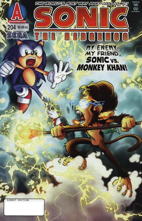 Read online Sonic The Hedgehog comic -  Issue #204 - 1