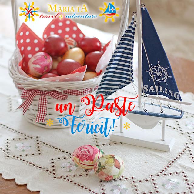 marina, navigatie, macheta iaht, oua vopsite, felicitare