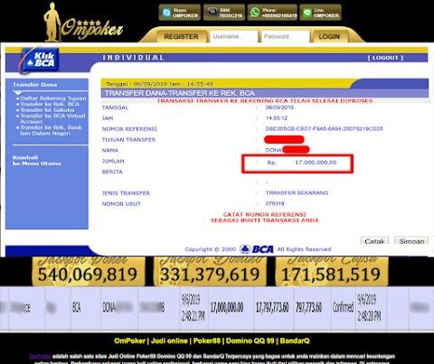 Selamat Kepada Member Setia Ompoker WD Rp 17.000.000