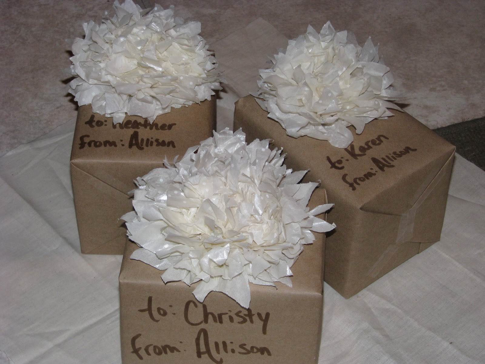 How To Wrap A Wedding Gift: David And Al's Wedding: Hostess Gifts