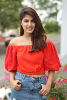 Rhea Chakraborty in Red Crop Top and Denim Shorts Spicy Pics ~  Exclusive 159.JPG