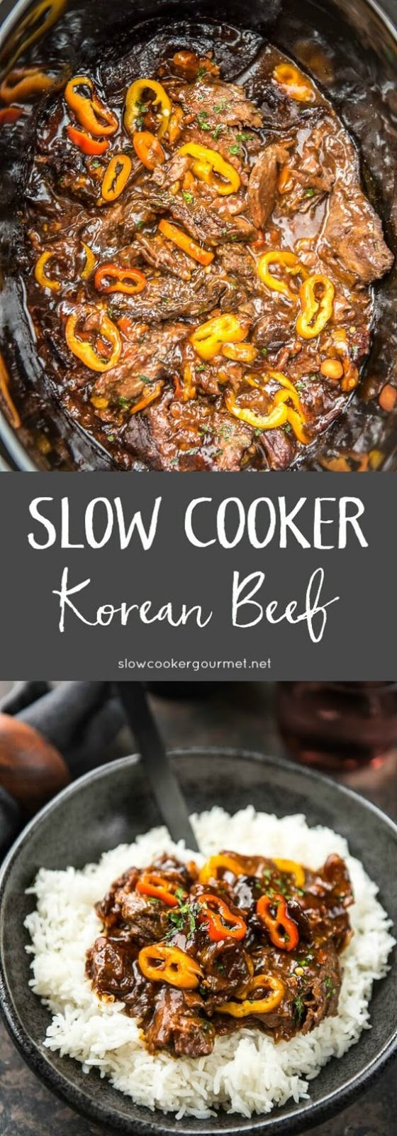 ★★★★☆ 7561 ratings | SLOW COOKER KOREAN BEEF WITH SWEET BABY PEPPERS #HEALTHYFOOD #EASYRECIPES #DINNER #LAUCH #DELICIOUS #EASY #HOLIDAYS #RECIPE #SLOW #COOKER #KOREAN #BEEF #SWEET #BABY #PEPPERS